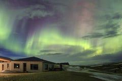 在冰岛的天空的北极光 免版税库存照片