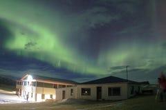 在冰岛的天空的北极光 免版税库存图片
