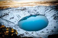 在冰岛的火山口 图库摄影