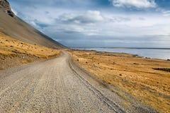 在冰岛的石渣路 库存图片