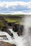 在冰岛的金黄圈子的瀑布 免版税库存图片