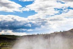 在冰岛的金黄圈子的瀑布 免版税库存照片