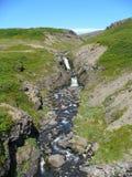 在冰岛的高度的瀑布 库存图片