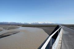 在冰岛路的旅途。 免版税库存照片