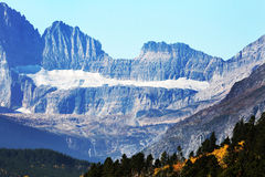 在冰川国家公园的冰川 图库摄影