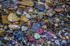 在冰川国家公园的冰河融解 库存图片