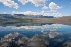 在冰川国家公园的反射 免版税图库摄影