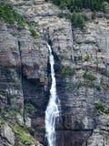 在冰川国家公园2的瀑布 库存图片