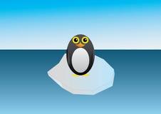 在冰川的企鹅 免版税库存图片