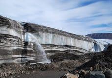 在冰川的脚趾 免版税库存照片