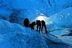 在冰川里面 图库摄影