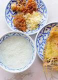 在冰水的泰国食物米 免版税图库摄影