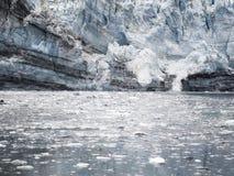 在冰河海湾国家公园,阿拉斯加的Margerie冰川 库存照片