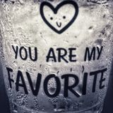 """在冰玻璃的有些词是您是我喜爱的""""的"""" 免版税库存图片"""