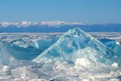在冰的极值的镇压 库存照片