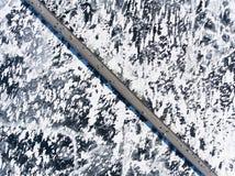 在冰的桥梁 免版税库存照片