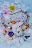 在冰的珠宝 免版税库存照片