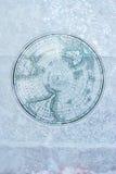 在冰的葡萄酒南极地图 免版税库存照片