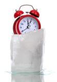 在冰的被获取的时间 图库摄影