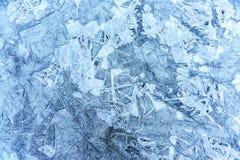 在冰的结构 库存照片