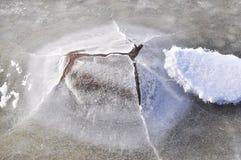 在冰盖的石头 库存图片