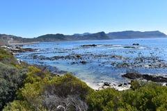 在冰砾的美妙的风景在开普敦,南非靠岸 库存图片