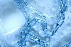 在冰里面的链子 免版税库存图片