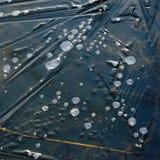 在冰结冰的泡影 库存照片