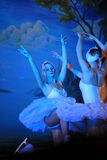 在冰-天鹅湖的圣彼德堡状态芭蕾 免版税库存照片