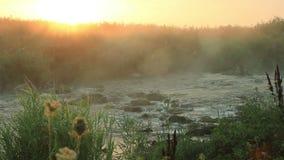在冲的河的黎明 影视素材