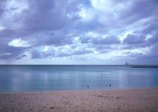 在冲绳岛海角Busena的黎明 图库摄影