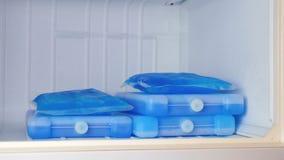 在冷冻机的冰袋 影视素材
