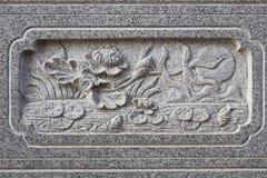 在冷家Noei伊2寺庙的美丽的墙壁 库存图片