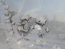 在冷淡的玻璃的样式 免版税库存图片