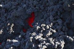 在冷却的熔岩 免版税库存照片