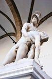 在凉廊della Signoria的雕象 免版税库存照片