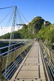 在凌家卫岛海岛上的天空桥梁 库存照片