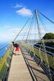 在凌家卫岛海岛上的天空桥梁 库存图片