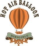 在减速火箭的样式的热空气气球 免版税库存图片