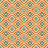 在减速火箭的颜色的种族菱形样式,无缝阿兹台克的样式 免版税库存照片