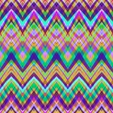在减速火箭的颜色的种族Z形图案,阿兹台克样式无缝的vect 皇族释放例证