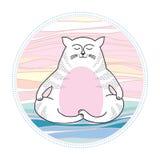 在凝思的滑稽的猫 可笑的猫系列  免版税库存照片