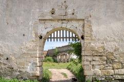 在凝视Selo的Staroselskiy城堡在利沃夫州 库存照片