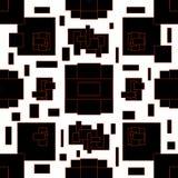 在几何样式的抽象样式 与几何图的黑白例证 库存例证