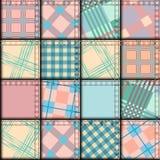 在几何样式的补缀品 免版税库存图片