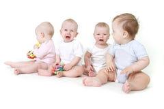 在几的婴孩白色 库存图片