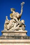 在凡尔赛宫的和平雕塑在法国 图库摄影