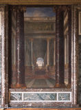 在凡尔赛宫的大大理石柱,法国 库存图片