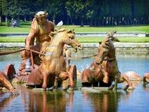在凡尔赛宫的阿波罗喷泉 图库摄影