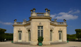 在凡尔赛宫parc的玛丽・安托瓦内特庄园 库存照片